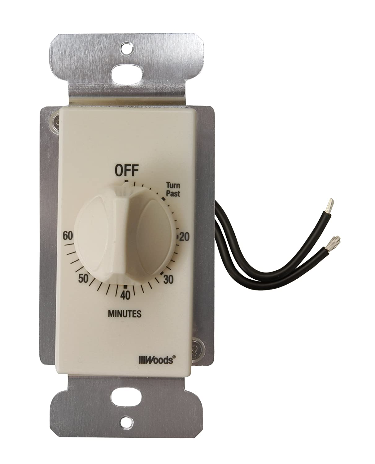 Woods 59718wd in wall 60 minute spring wound countdown mechanical woods 59718wd in wall 60 minute spring wound countdown mechanical timer light almond amazon mozeypictures Gallery