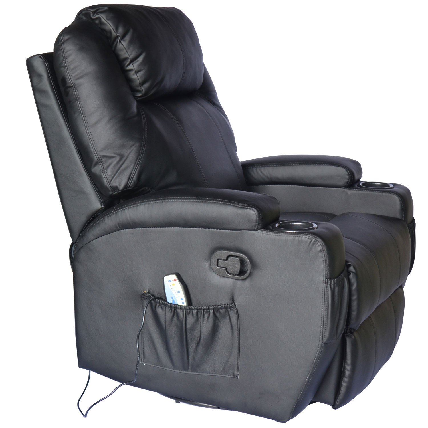 HOMCOM Luxury Electronic Heated Massage Sofa Leather Adjustable Recliner  Chair Armchair Lounge (Black): Amazon.ca: Electronics