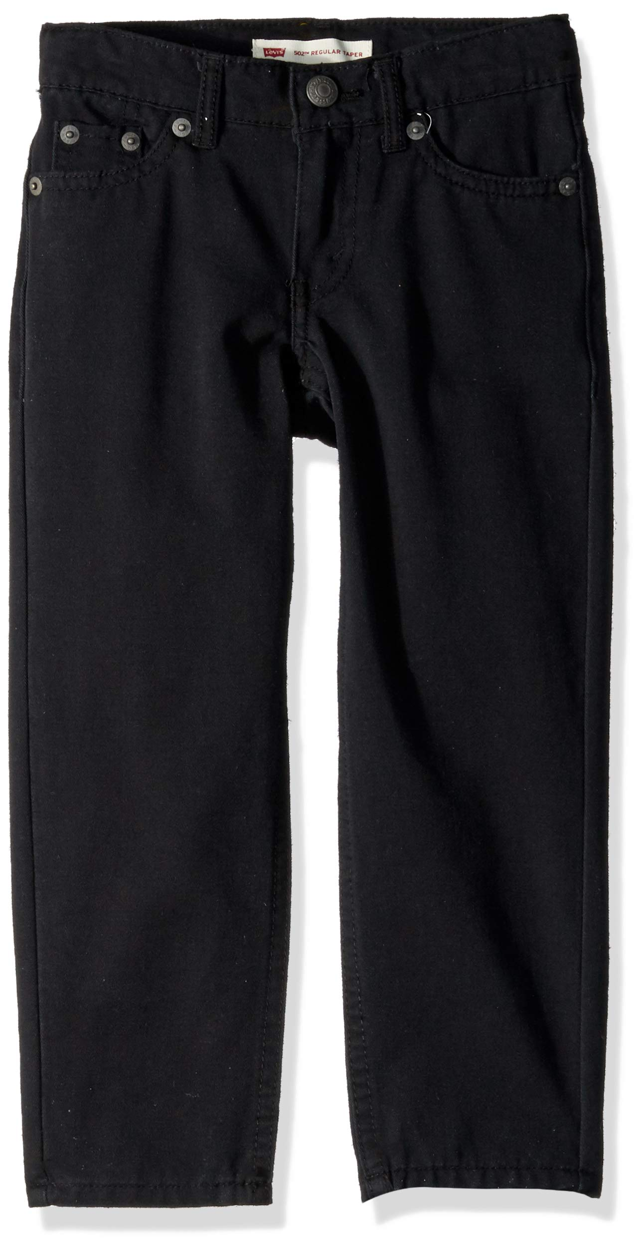 Levi's Boys' Big 502 Regular Fit Taper Jeans, Black Stretch, 20 by Levi's