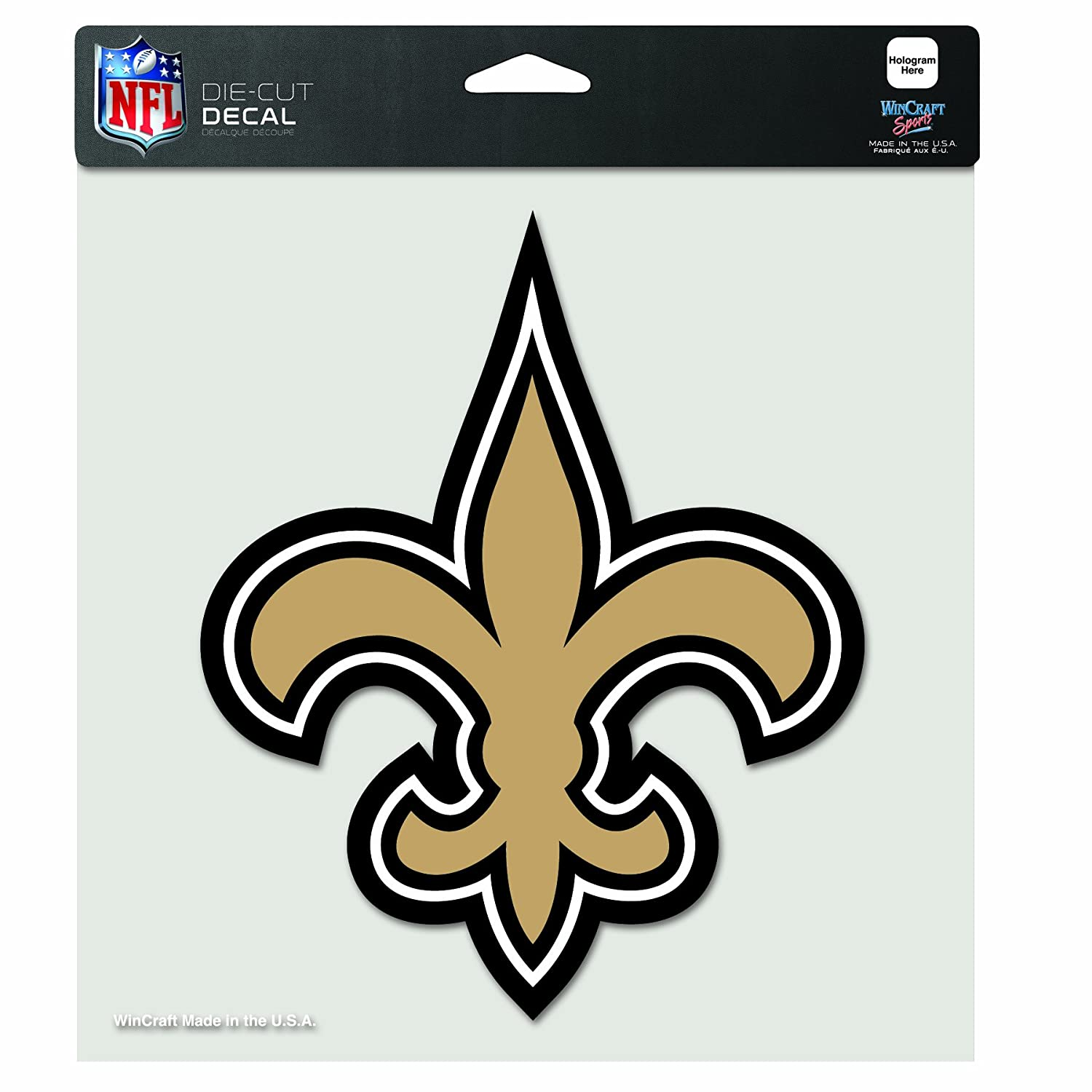 Amazon nfl new orleans saints 8 by 8 inch diecut colored decal amazon nfl new orleans saints 8 by 8 inch diecut colored decal sports fan decals sports outdoors biocorpaavc Gallery