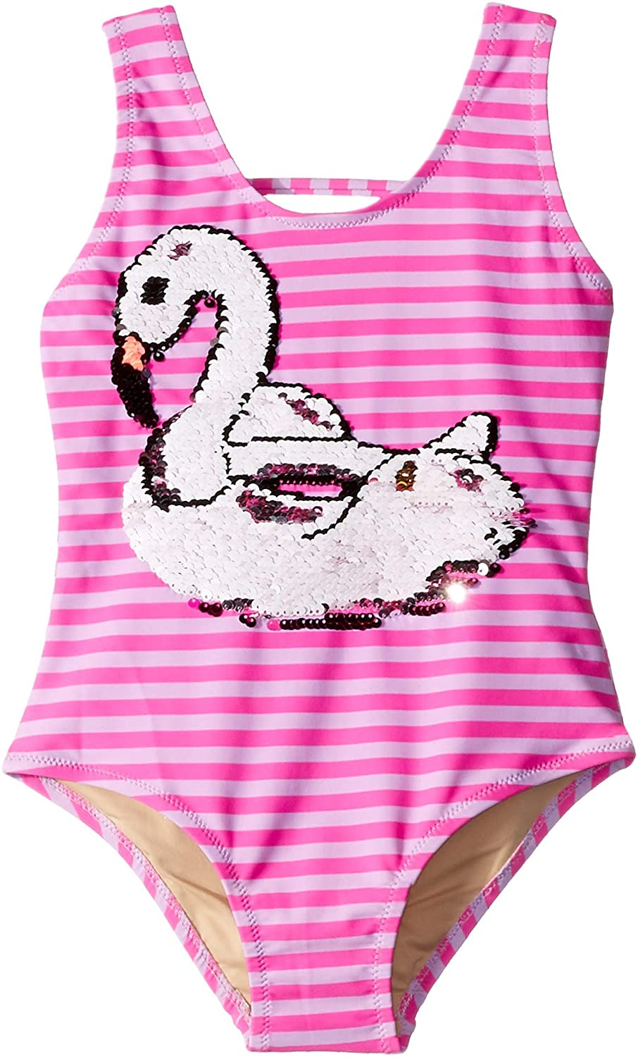 Toddler Shade Critters Baby Girls Magic Two-Way Sequin Swan One Piece