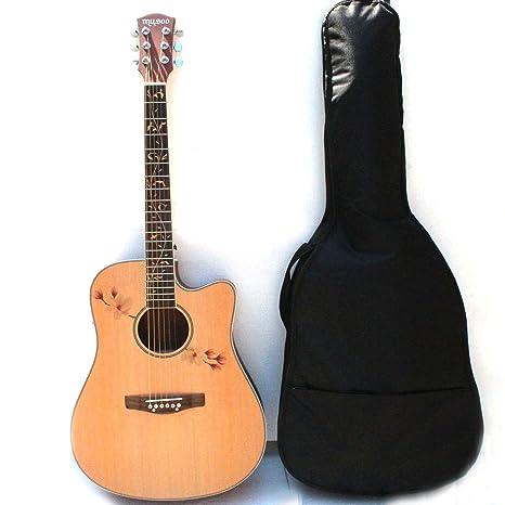 Guitarra acústica de la marca Musoo con ecualizador y bolsa de ...