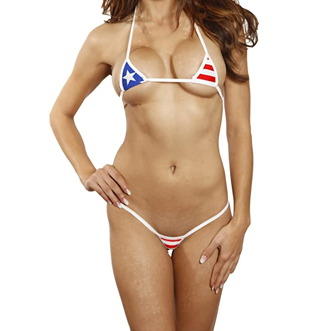 f2d72a16dec Amazon.com: Bitsy's Bikinis EURO Extreme Style - Stars and Stripes ...