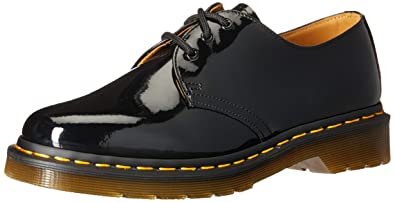 72d398532222 Dr. Martens Women's 1461 W Oxford,Black Patent,3 UK/5 M