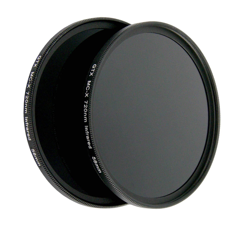 58mm X-Series IR720 IR 720nm Infrared Filter for Camera Lens Digital DSLR SLR by Sunset Foto