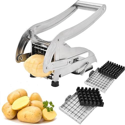 French Fry Cutter, Stainless Steel Potato Slicer Veggies Chopper