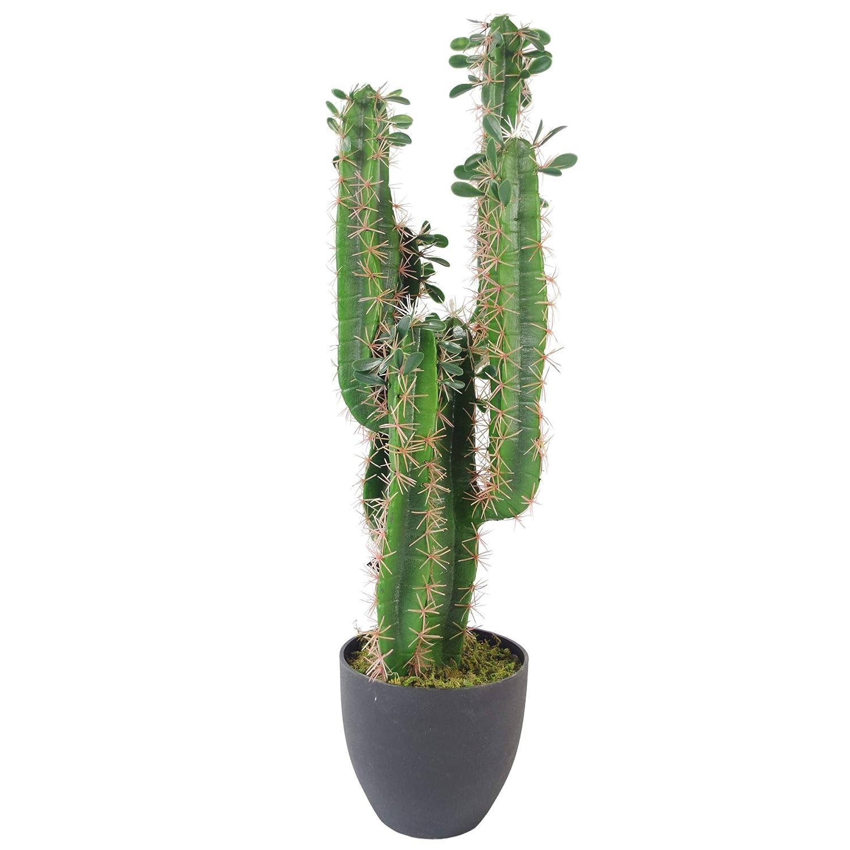Leaf Feuille de Cactus Artificiel avec Pot 75 cm