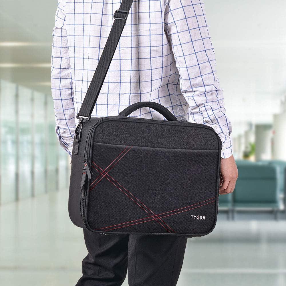 LG TYCKA con tracolla regolabile e divisori per Acer 36 x 26 x 12 cm Benq Sony Epson misura piccola Borsa da viaggio per proiettore