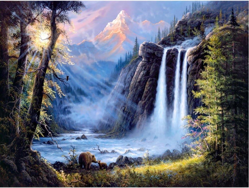 5D DIY Full Drill Diamond Painting Waterfall Cross Stitch Kits Art Wall Decors