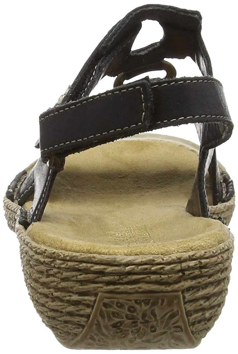 Rieker Damen Offene 65863 Offene Damen Sandalen mit Keilabsatz, 3df147