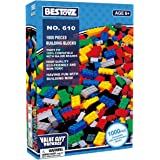 Bestoyz 1000 PC Building Bricks, Bulk Blocks Toy, Big Pack of Basic Pieces, Tight Fit and Compatible with Major Brands