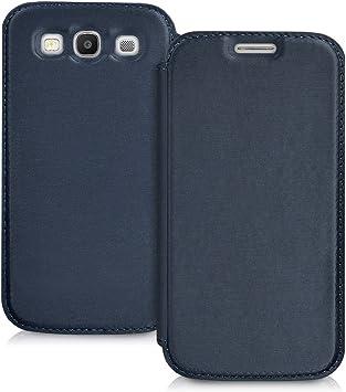 kwmobile Funda Compatible con Samsung Galaxy S3 / S3 Neo - Carcasa con Tapa Tipo Libro - Case Protector en Azul: Amazon.es: Electrónica