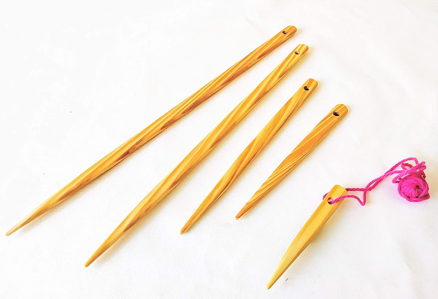 5 piece large and small weaving needles. 4,6,8,12 and 14 inches LoomsAndToolz 4336905829
