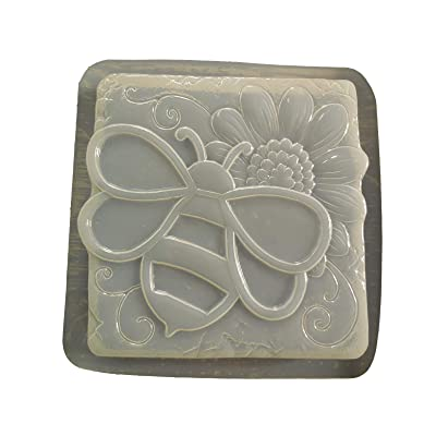 Bumble Bee with Sunflower Stepping Stone Mold 1305: Home & Kitchen