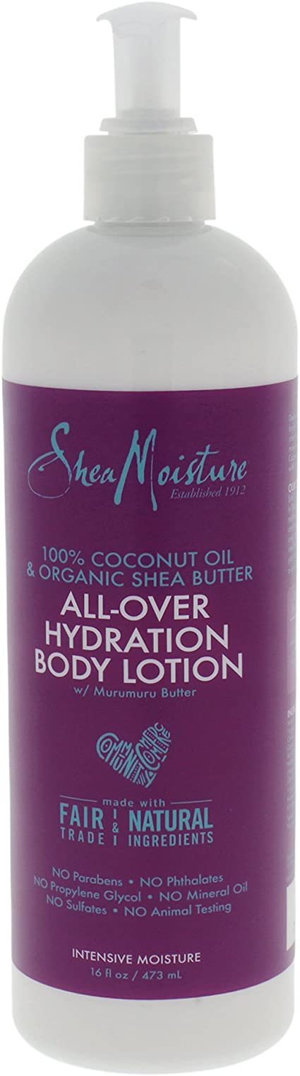 SHEA MOISTURE 100% Coconut Oil & Organic Shea Butter All-Over Hydration Body Lotion