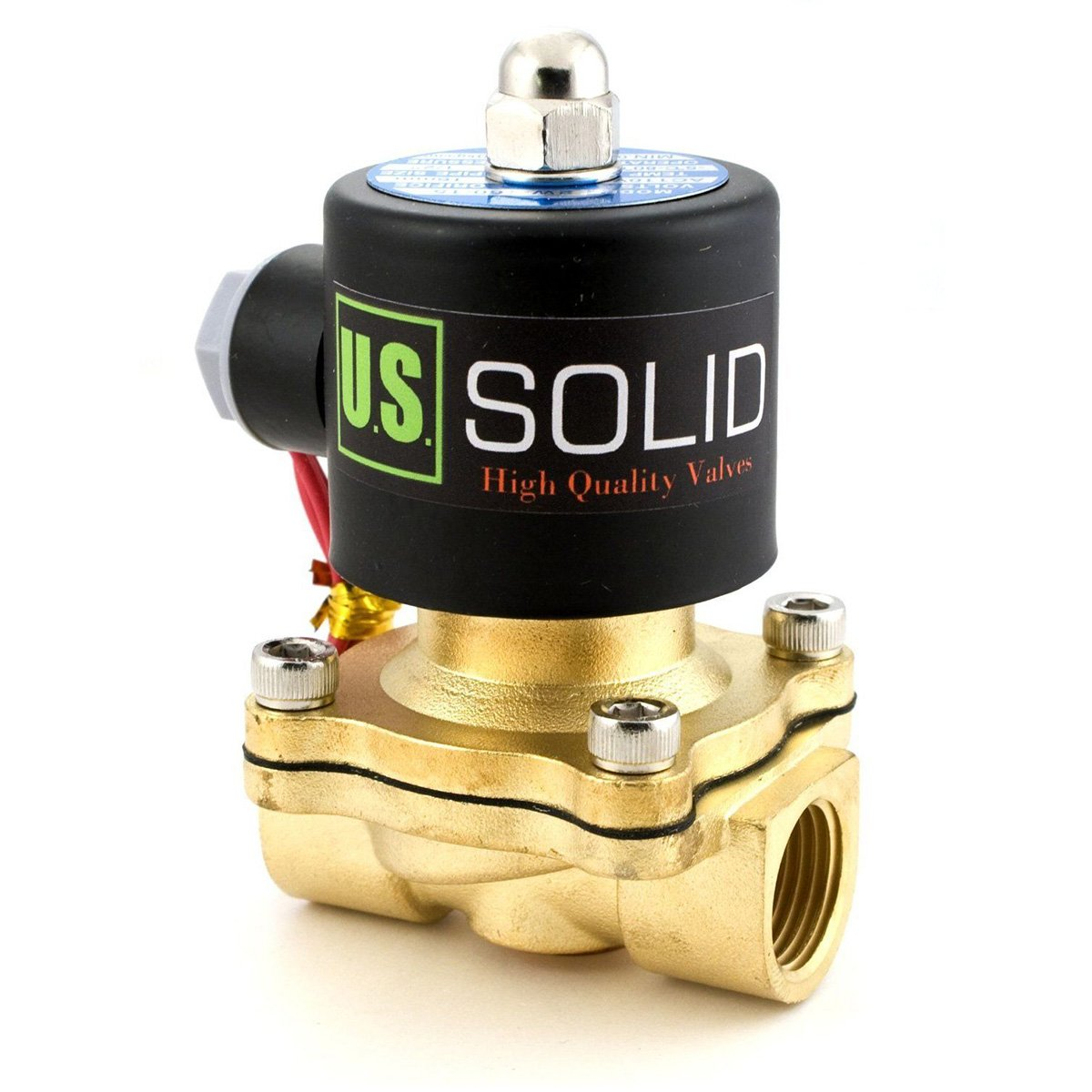 "1/2"" Brass Electric Solenoid Valve110VAC VITON Seal N.C. (Air, Gas, Fuel.)"