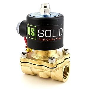 "1/2"" Brass Electric Solenoid Valve110VAC VITON Seal N.C. (Air, Gas, Fuel.)"