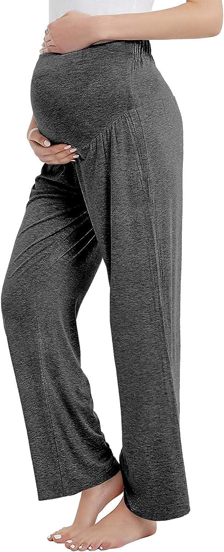 Amorbella Womens Maternity Over The Belly Bootcut Yoga//Lounge//Pajama//Sleep Pants