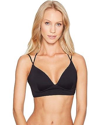 5c82473a876 MICHAEL Michael Kors Women s Solids Halter Double Strap Bikini Top Black Swimsuit  Top