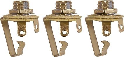3 Pack 1//4 Inch Instrument Guitar Audio Phone Phono Jack Mono Open Circuit