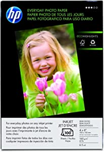 HP Everyday 4x6Photo Paper 100 Sheets (Q5440A)