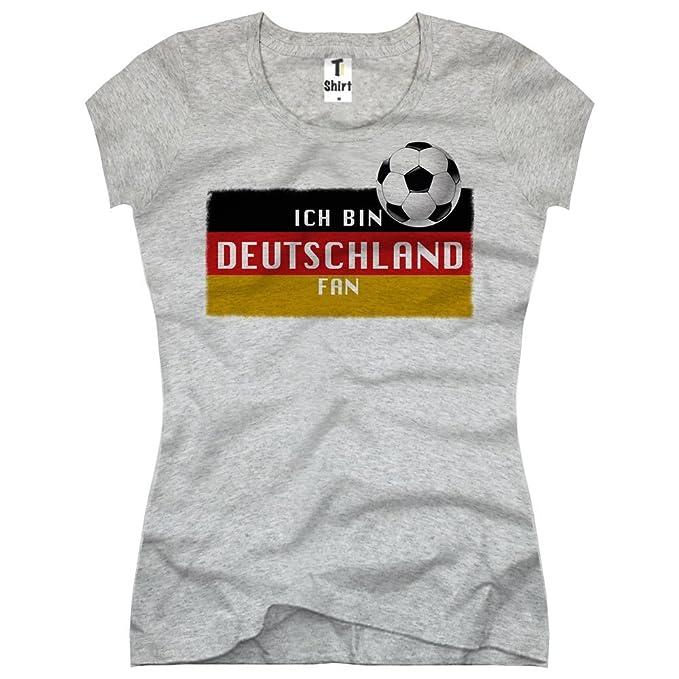 TEE-Shirt, Women T-Shirt Deutschland Fan Flag