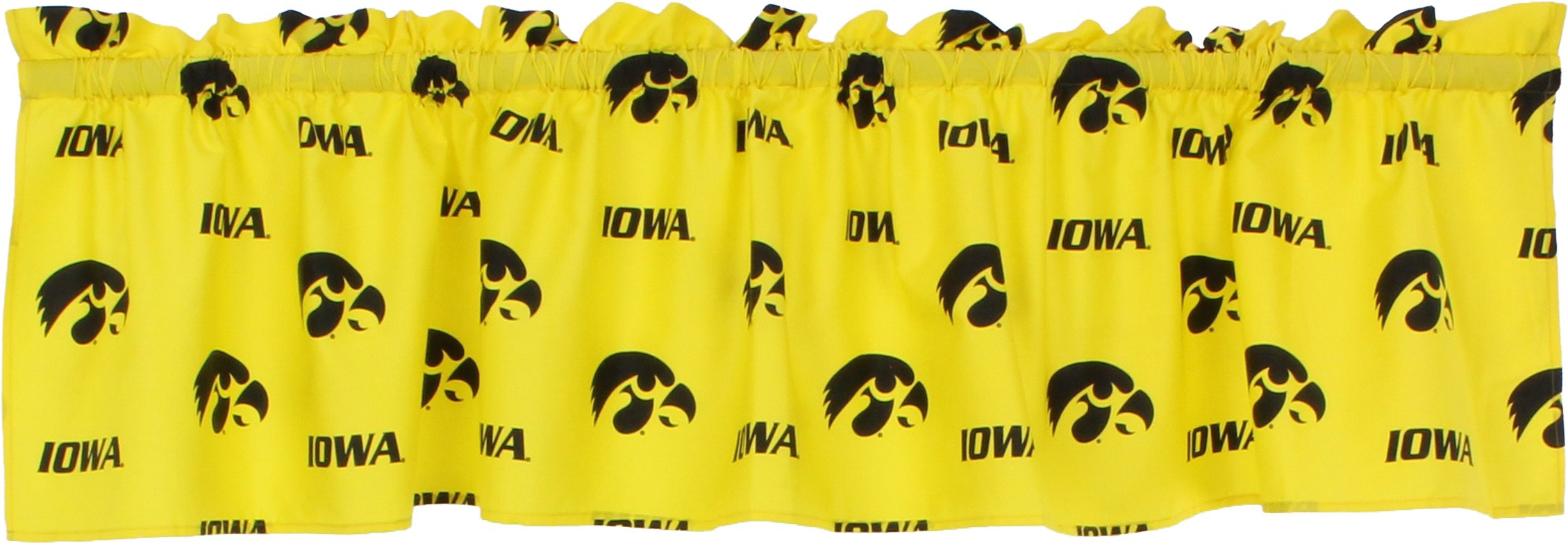 College Covers Iowa Hawkeyes Printed Curtain Valance, 84 by 15''