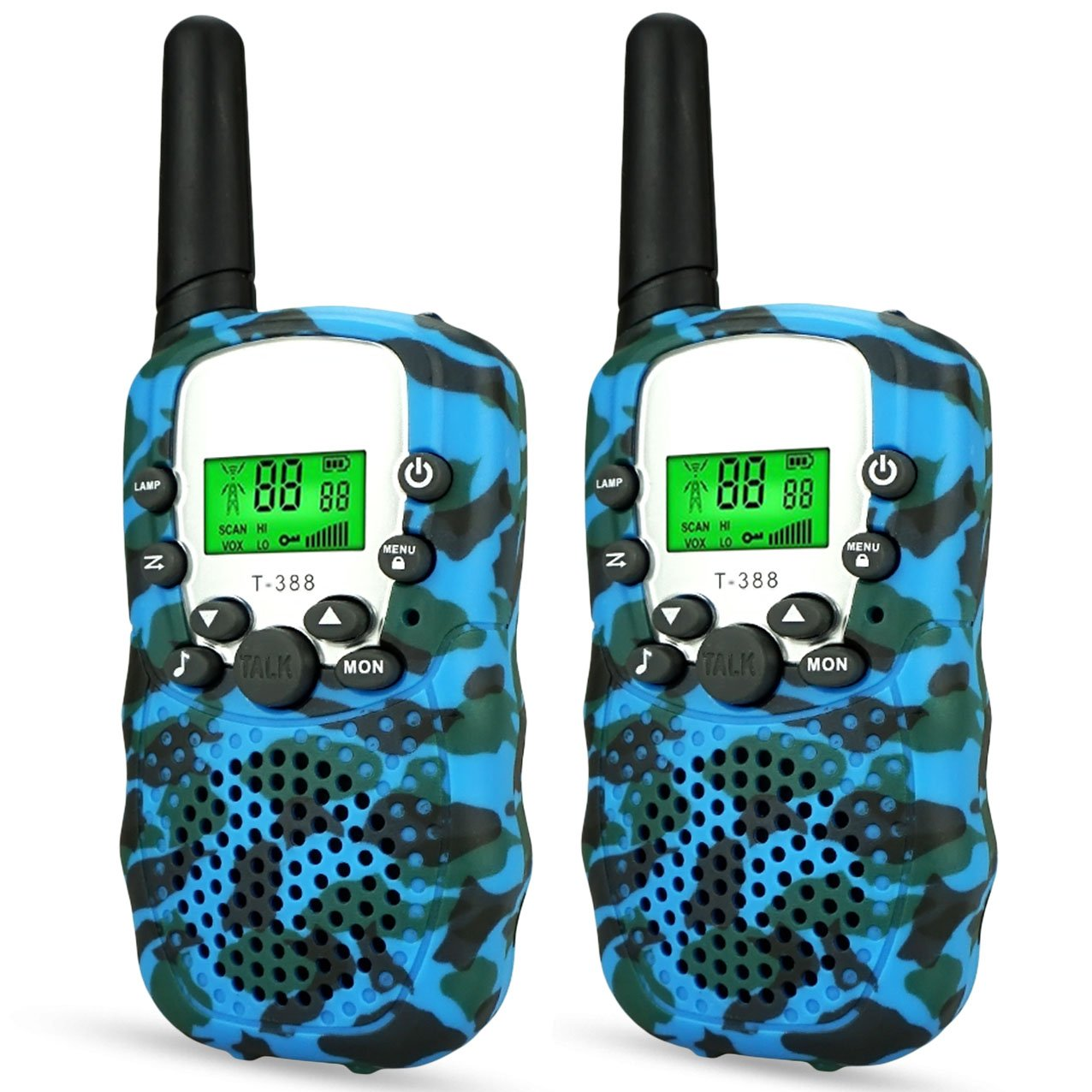 Toys for 3-12 Year Old Boys Girls,Kids Walkie Talkies Long Range Walky Talky for Kids Gifts for 3-12 Year Old Boys Gifts for 3-12 Year Old Girls birthday presents for Kids Blue OPUSMD002