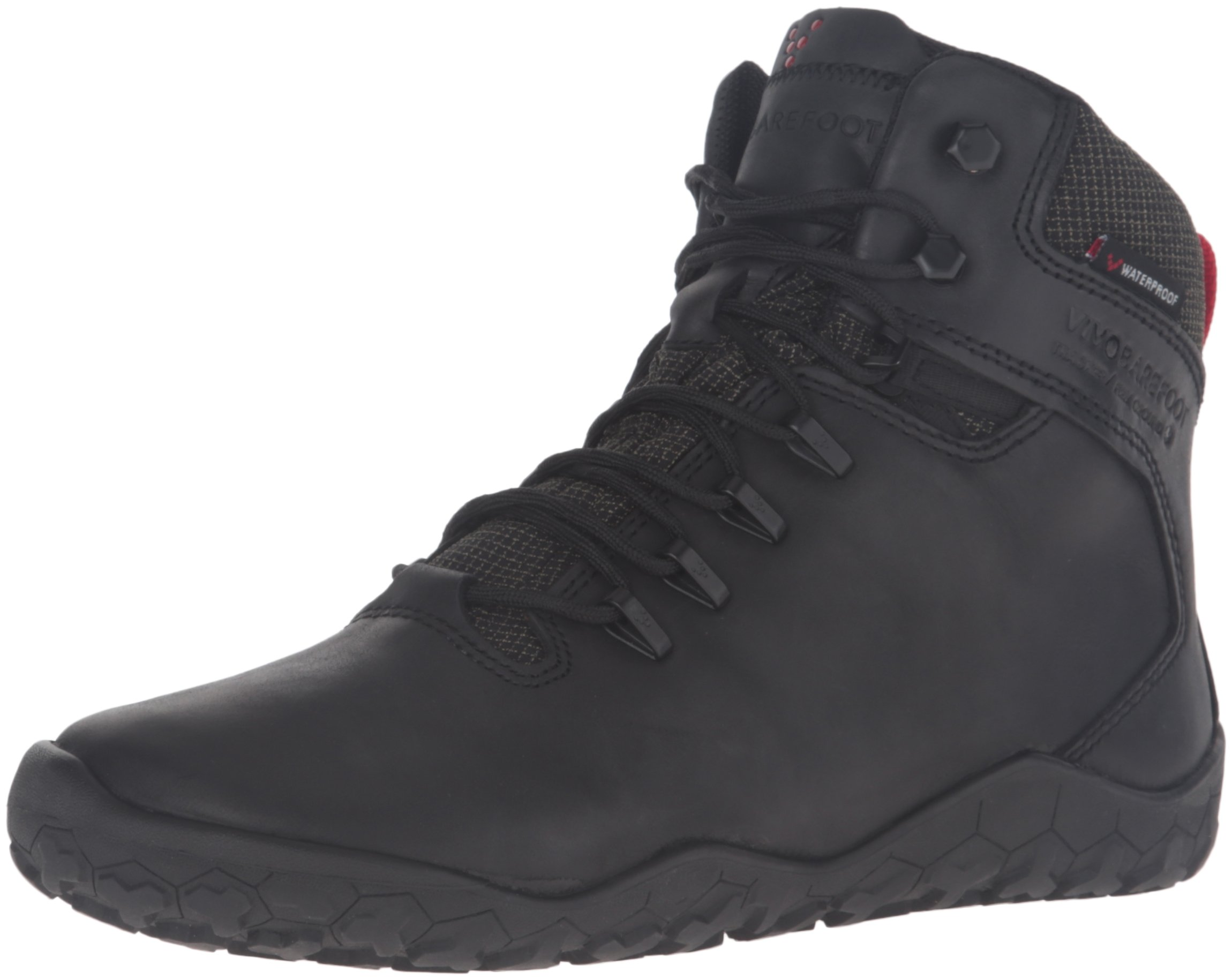 Vivobarefoot Women's Tracker FG L Leather Walking Shoe, Black, 38 EU (7.5 B(M) US Women) by Vivobarefoot