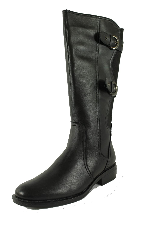 Damen Stiefeletten Biker Boots Schwarze Stiefel 77314 Trendy