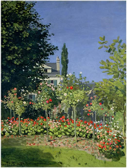 Garden at Sainte Adresse by Claude Monet Giclee Fine Art Print Repro on Canvas