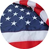American Flag Embroidered 3x5 ft 100% Made in USA by Sietrip:Extremely Strong 420D Oxford Nylon Embroidered Stars Sewn Stripes,Sturdy Brass Grommets,Indoor/Outdoor, Withstands Tough Weather and Wind