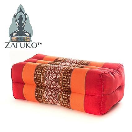 Zafuko Standard Meditation and Yoga Cushion - Cherry/Peach