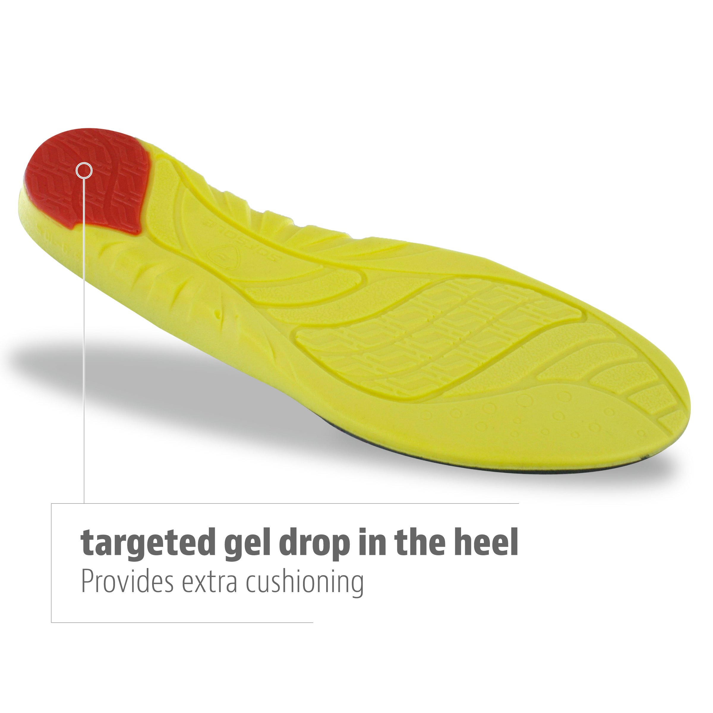 Sof Sole Men's Arch Full Length Comfort High Arch Shoe Insole, Men's Size 9-10.5 by Sof Sole (Image #3)