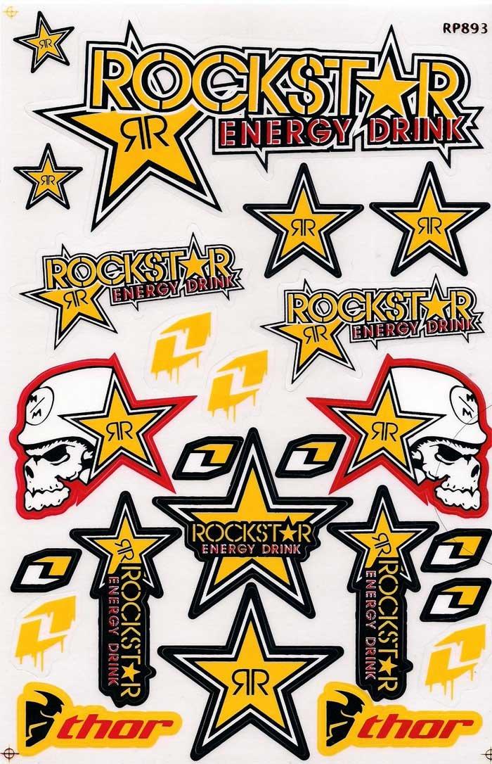 Amazoncom Rockstar Energy Graphic Racing Sticker Decal - Racing decals