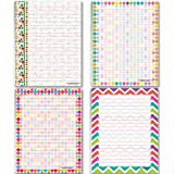 Colorful Pattern Designs - Home & Office Pads - 4 Assorted Designs Note Pads