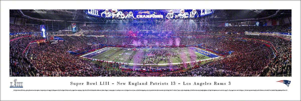 New England Patriots - 2019 Super Bowl LIII Champions - NFL Panoramic Posters and Framed Prints by Blakeway Panoramas