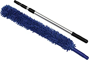 CleanAide® Handheld Microfiber Flex Duster with Adjustable Telescopic Reach Pole