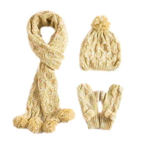 QPALZM Guanti Invernali In Cotone Con Cappuccio Per Sciarpe In Inverno Delle Donne E Sciarpa,Yellow-OneSize