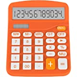 Calculator, Helect Standard Function Desktop Calculator (Orange) - H1001A