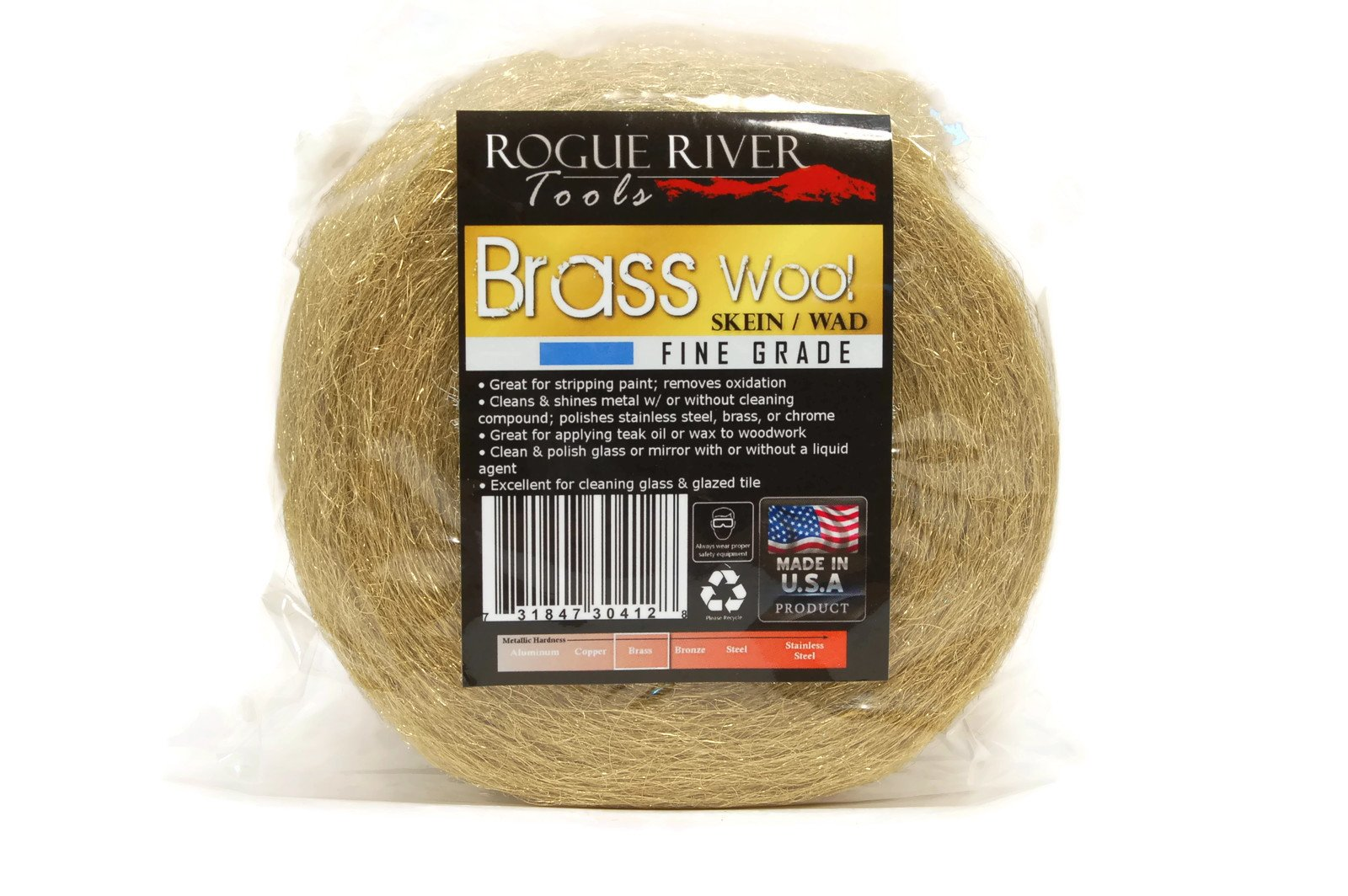 Rogue River Tools Brass Wool 1lb Roll - Fine