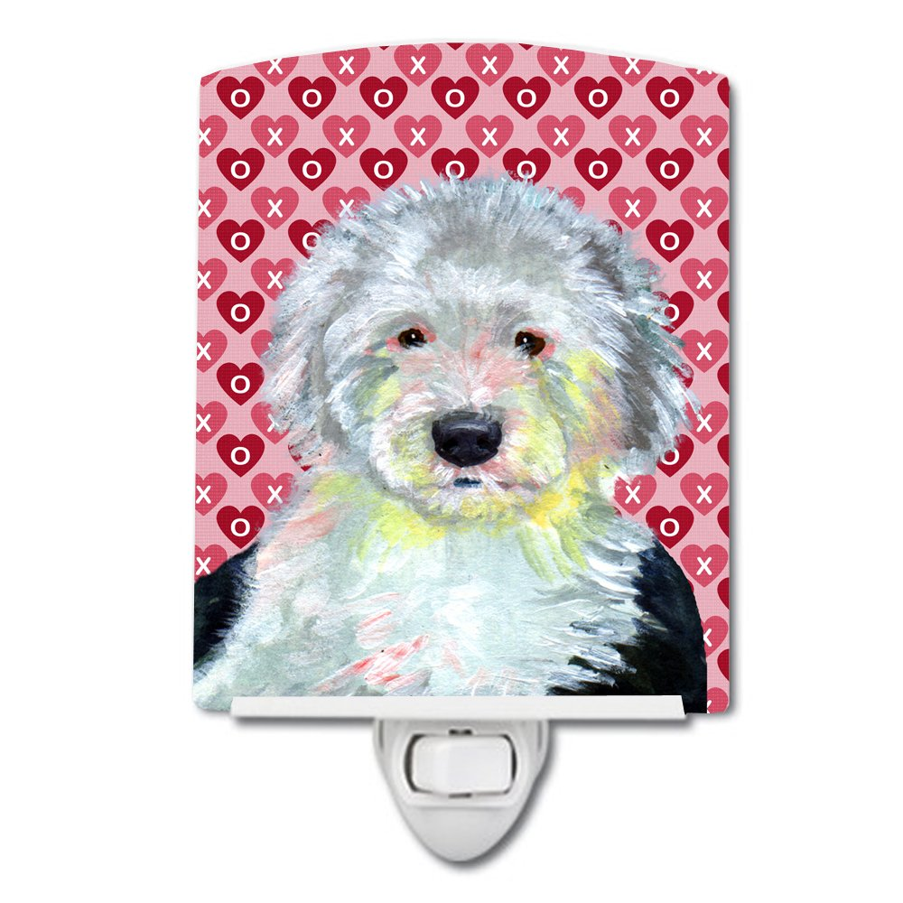 Carolines Treasures Old English Sheepdog Love Valentines Night Light 6 x 4 Multicolor