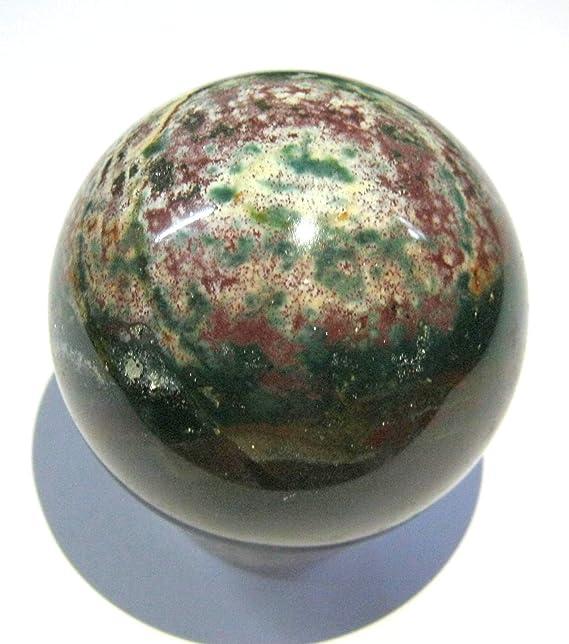 Exclusiva piedra de sangre, 141 gramos, 51 mm, esfera de cristal ...