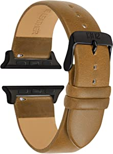 Compatible with Space Grey Apple Watch Band 38mm -Leather Wrap Apple Watch Band 38mm - Leather Apple Watch Band 42mm Men - Leather iwatch Band 38mm - 42mm Apple Watch Band Men Leather - Gift for him