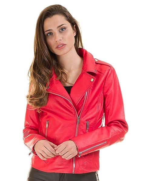 Vila Chaqueta Biker roja VICARA-Noos Clothes (XS - Rojo ...