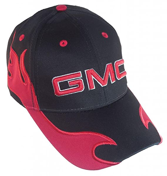 6dad8265851 Amazon.com  GMC Men s New Official Licensed Baseball Hat 3D Logo GM Trucks  Adjustable Black Red  Clothing