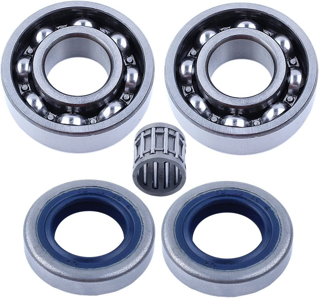 Crankshaft Piston Bearing Seal Set Fit HUSQVARNA 268 272 61 66 266