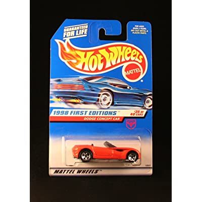 Hot Wheels Mattel 1998 First Editions 1:64 Scale Orange Dodge Concept Car Die Cast Car #035: Toys & Games
