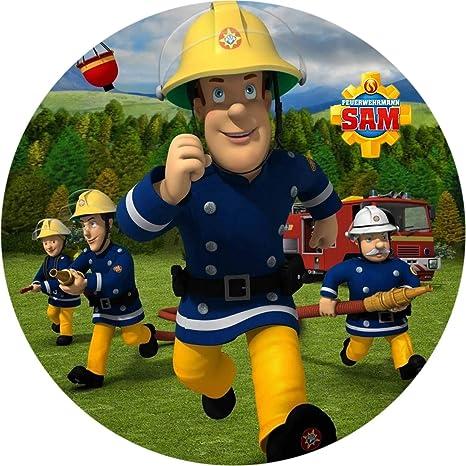 Fondant Tortenaufleger Tortenbild Feuerwehrman Sam N7