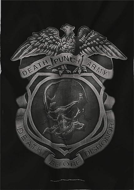 Five Finger Death Punch Flagge Fahne Death Before Dishonor Amazon De